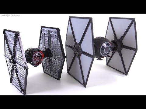 LEGO Vs. Hasbro! Star Wars TFA First Order TIE Fighter Comparison