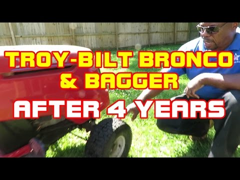 Troy Bilt Bronco Tractor And Bagger Review After 4 Years Of Use