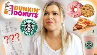 Letting The Employees Decide What I Eat For 24 Hours! (I Went BACK To The Starbucks)