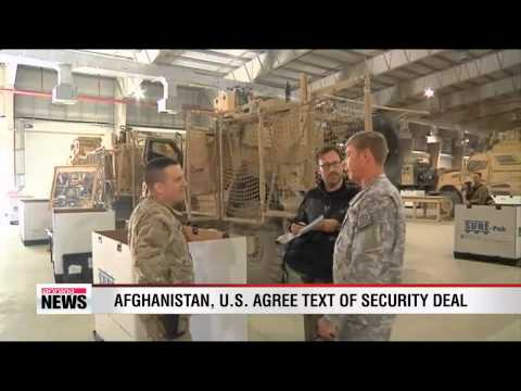 Afghanistan, U.S. agree text of security deal