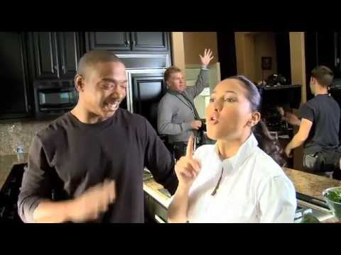 Ja Rule & Adrienne Bailon on the set of