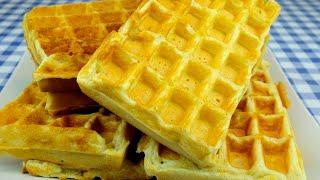 Receita simples de waffle – super fácil – café da manhã