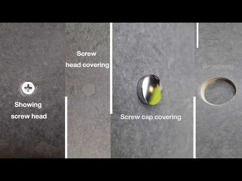 Ideas for screw decoration can be applied to ceiling & wall board