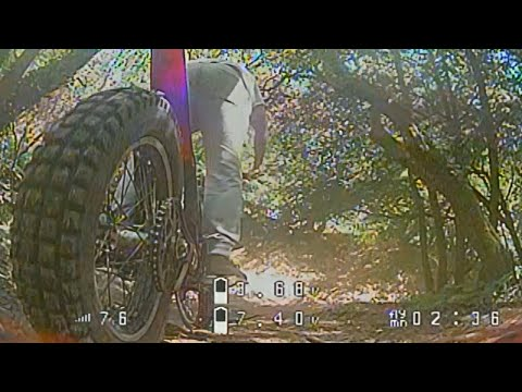Фото FPV Drone follows Trials Biker