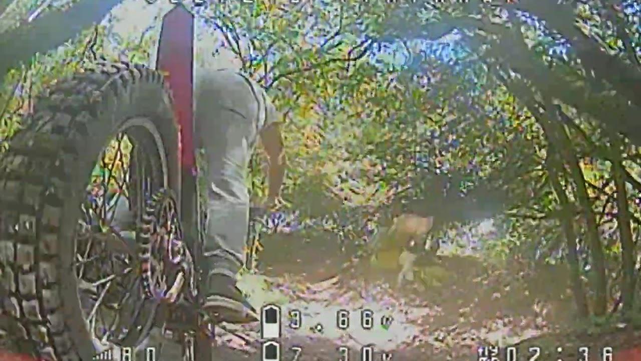 FPV Drone follows Trials Biker картинки