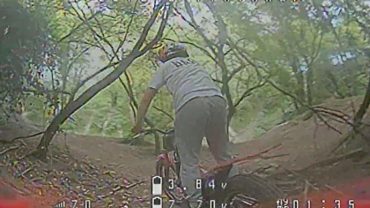 FPV Drone follows Trials Biker фотки