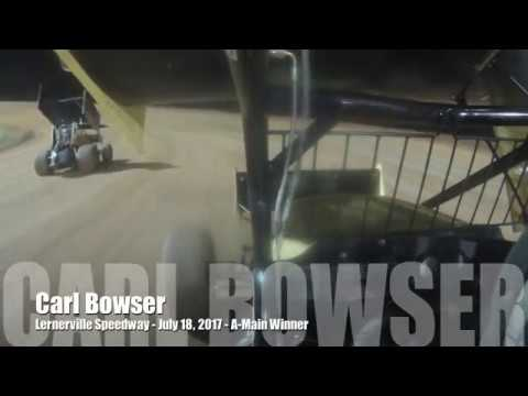 In-Car Video Carl Bowser - Lernerville Speedway Win - August 18, 2017
