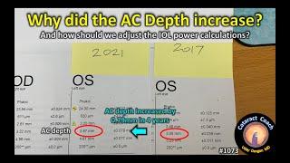 CataractCoach 1073: Why did the AC depth increase?