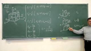 Сопротивление материалов. P-12 (обобщённый закон Гука, введение).