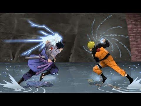 Все битвы Наруто против Саске(Часть 2)