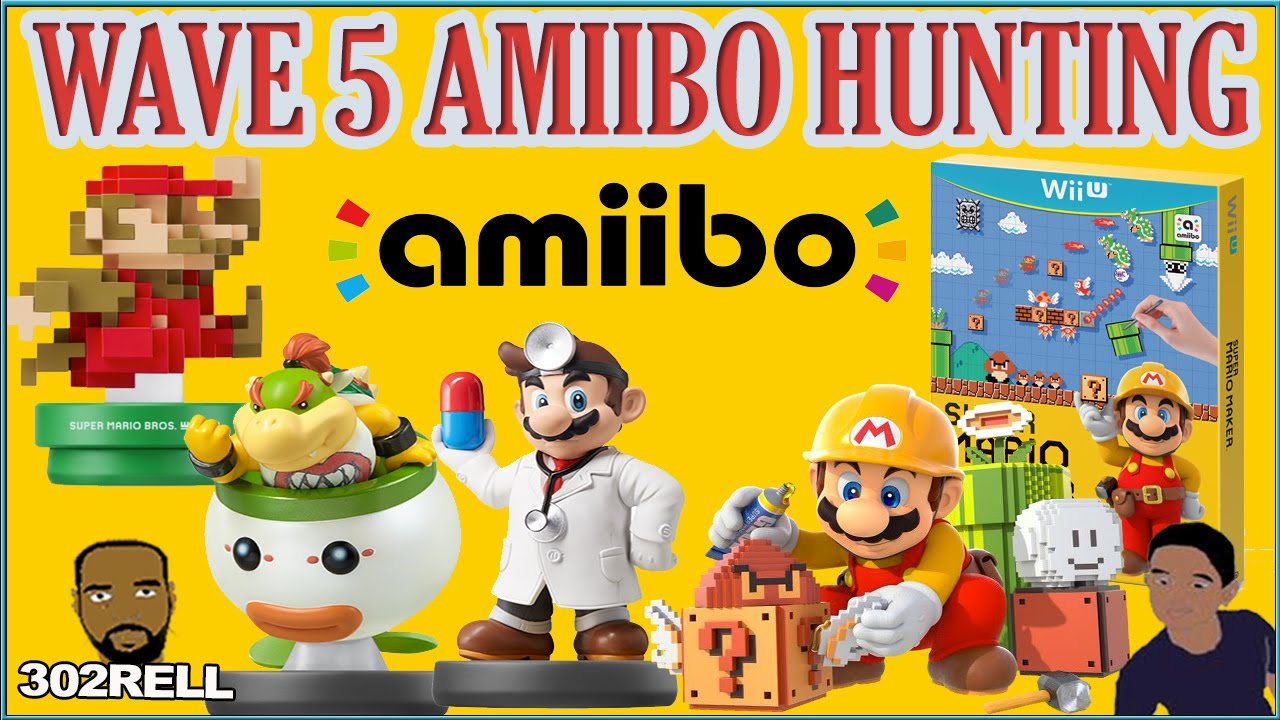 wave 5 amiibo hunting the search for 8 bit mario youtube