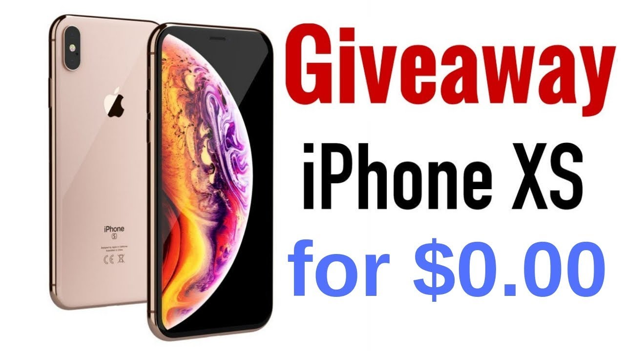 got free iPhone Xs max win giveaway 2019🎁iPhoneReview🎁