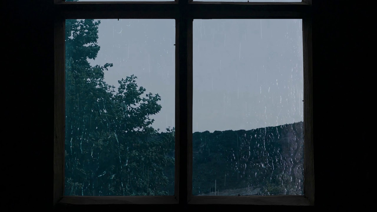 10 Hours Rain On A Window Rainstorm Sleep Ambience Thunder And Heavy Rain For Sleep Relax Youtube