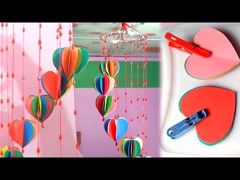 DIY crafts Decorative Wall Hanging with with colour Paper-  Colour paper crafts - Easy Way
