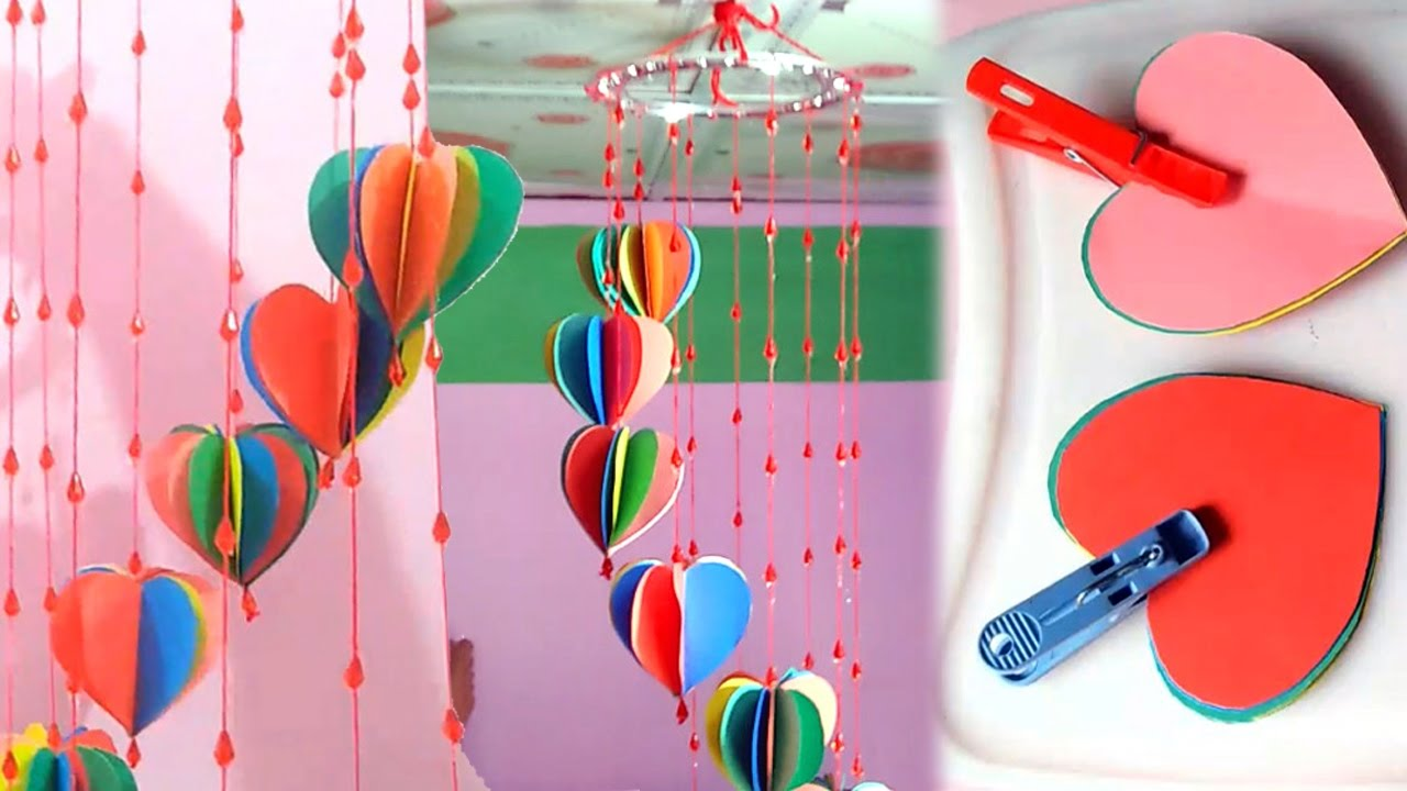 DIY crafts Decorative Wall Hanging with with colour Paper ...