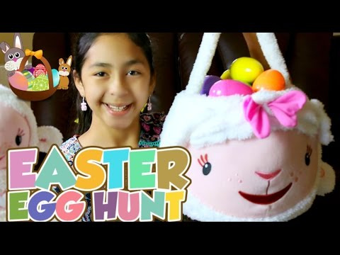 Easter Egg Hunt Lambie Easter Basket + Surprise Eggs Opening