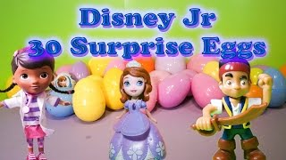 Opening 30 Surprise Eggs with Doc McStuffins and Friends