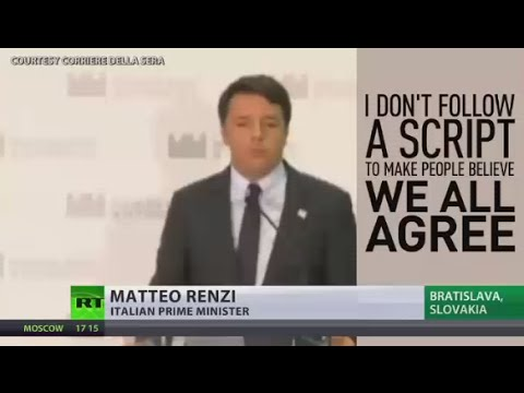 European Disunion? Italian PM refuses to hold press conference with Germany & France