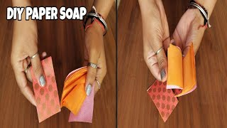 DIY PAPER SOAP||HOMEMADE PAPER SOAP||HOW TO MAKE PAPER SOAP AT HOME