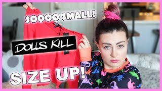 I Tried Online Shopping at Dolls Kill Without Help... or Sight! *try on haul*