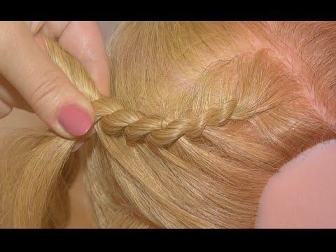 Шкатулка - Как заплести жгуты / How to braid strands of hair