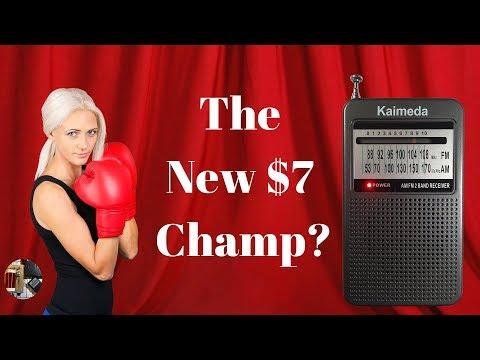 $7 Kaimeda SR-201 AM FM Slim Pocket Radio Review