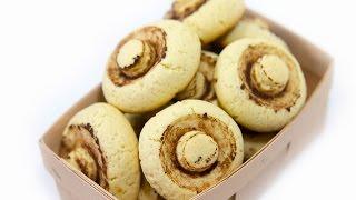 ПЕСОЧНОЕ ПЕЧЕНЬЕ 'ШАМПИНЬОНЫ' \ Рецепт вкусного печенья \ Песочное печенье рецепт на маргарине