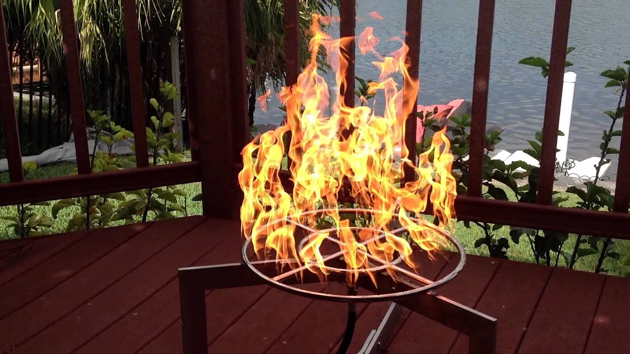Easy Do It Yourself Propane 18 Double Ring Fire Pit Kit from EasyFirePitscom fr18ck  YouTube