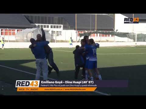 Emiliano Goyé   - Gol Dina Huapi (2 - 1)