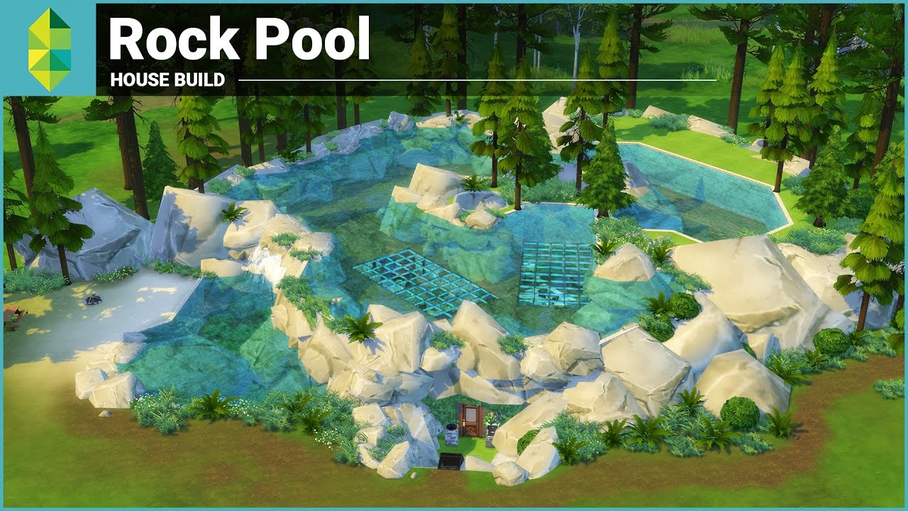 The sims 4 house building rock pool underwater house for Pool design sims 4