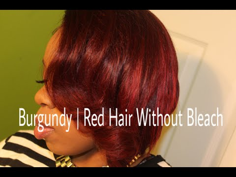 slay your lace closure coloring my hair burgundy without