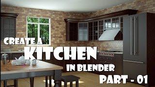 Create a kitchen in Blender Part 01