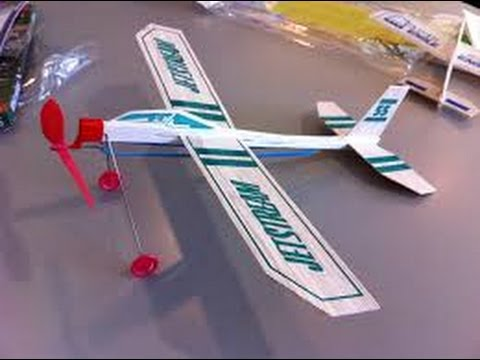 Build A Balsa Wood Rubber Band Model Airplane Youtube