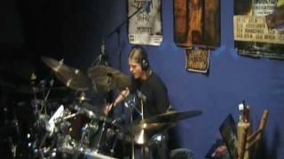 Hendrik drumming on Wrath Behind You by Ekho