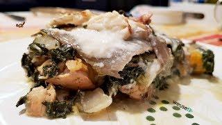 426 - Pollo gratinato con bietola e besciamella...e un saluto ad Antonella! (secondo di carne)