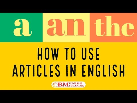 Articles (a / an / the) | Learn Free Online English Grammar Lessons | BM English Speaking