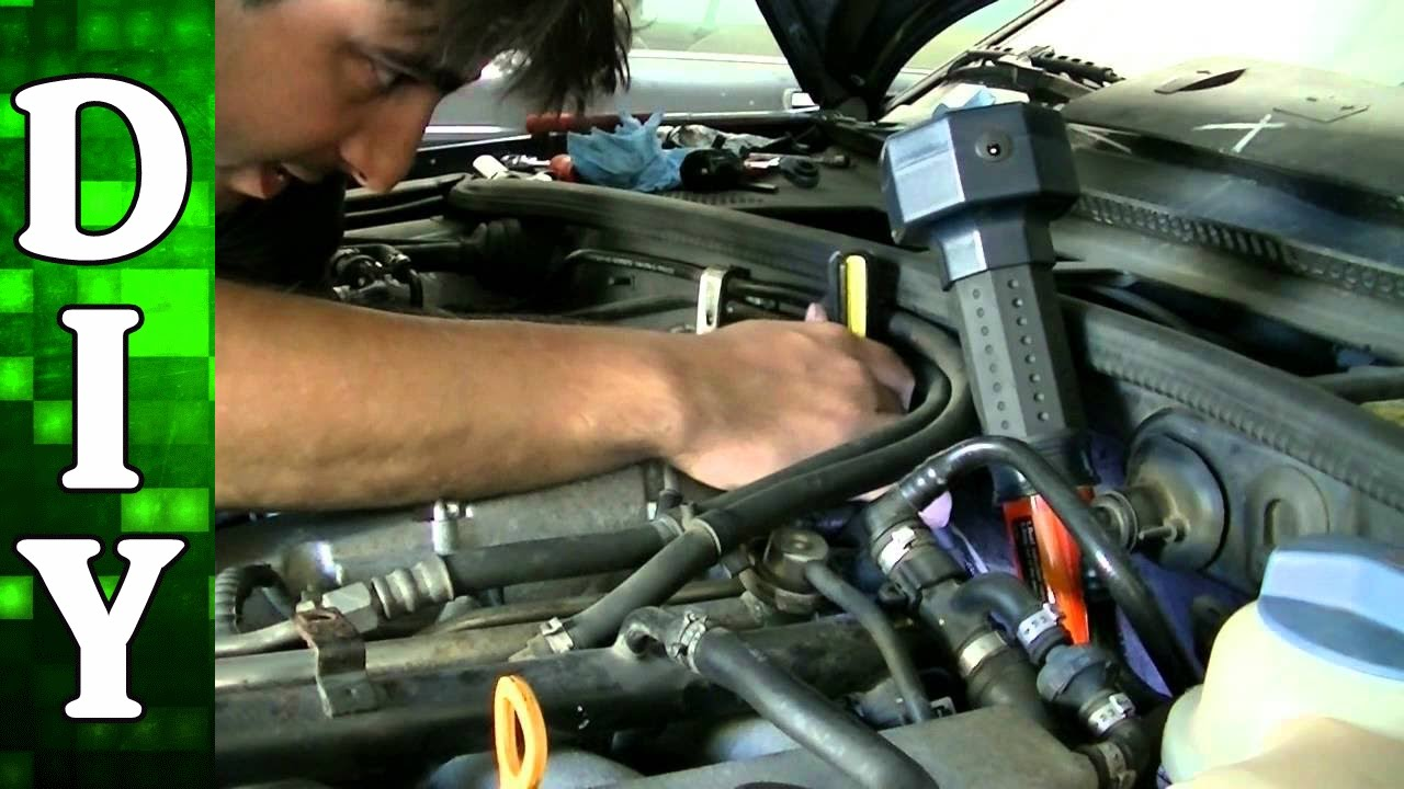 how to remove and replace a coolant temperature sensor vw passat jetta audi a4 a6 1 8l engine youtube [ 1280 x 720 Pixel ]