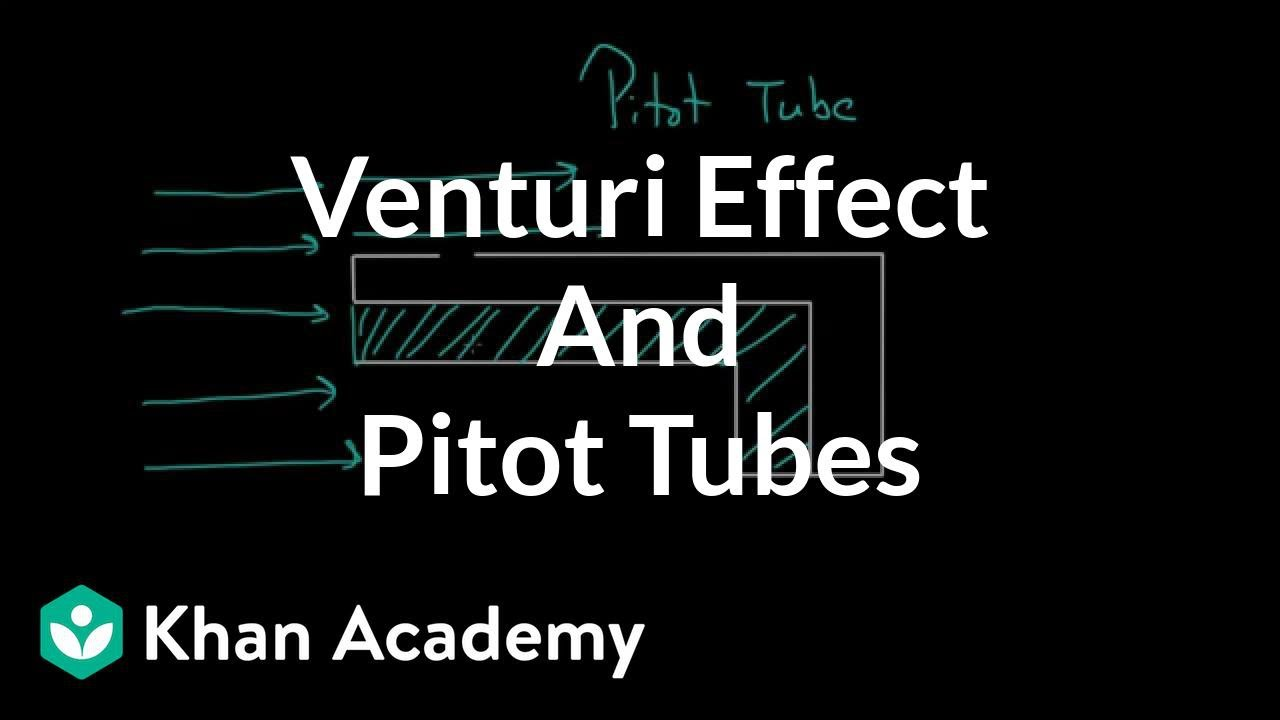 Venturi effect and Pitot tubes (video) | Khan Academy