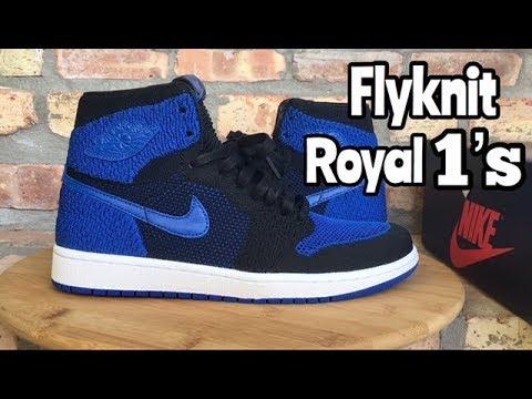 "98baee1ff77939 Air Jordan 1 Flyknit ""Royal"" review - YouTube"