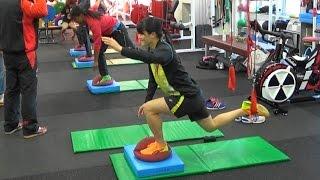 Redcord training 1 日本陸連女子短距離合宿