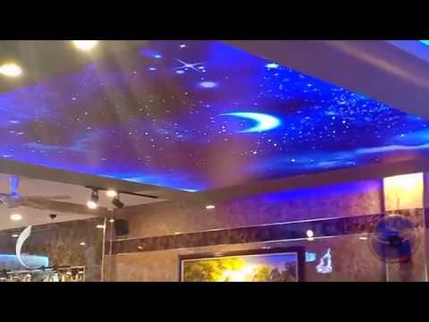 Trần sao nhân tạo quán cafe Night Star