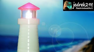 Lighthouse. Night Lamp with Resin / ART RESIN