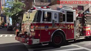 """EPIC EVERYONE GOES"" COMPILATION OF FIRE DEPARTMENTS RESPONDING FROM QUARTERS IN N.Y. & N.J.  01"