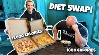 WORLD'S STRONGEST MAN SWAPS DIET WITH WIFE!