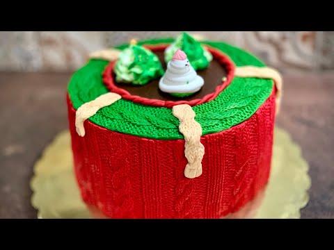 Торта зимна Плетена - много нежна и лека