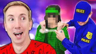 POLICE ARREST THIEF CAUGHT TRASHING MY HOUSE! Chad Wild Clay & Spy Ninjas Play Hackers Challenge!