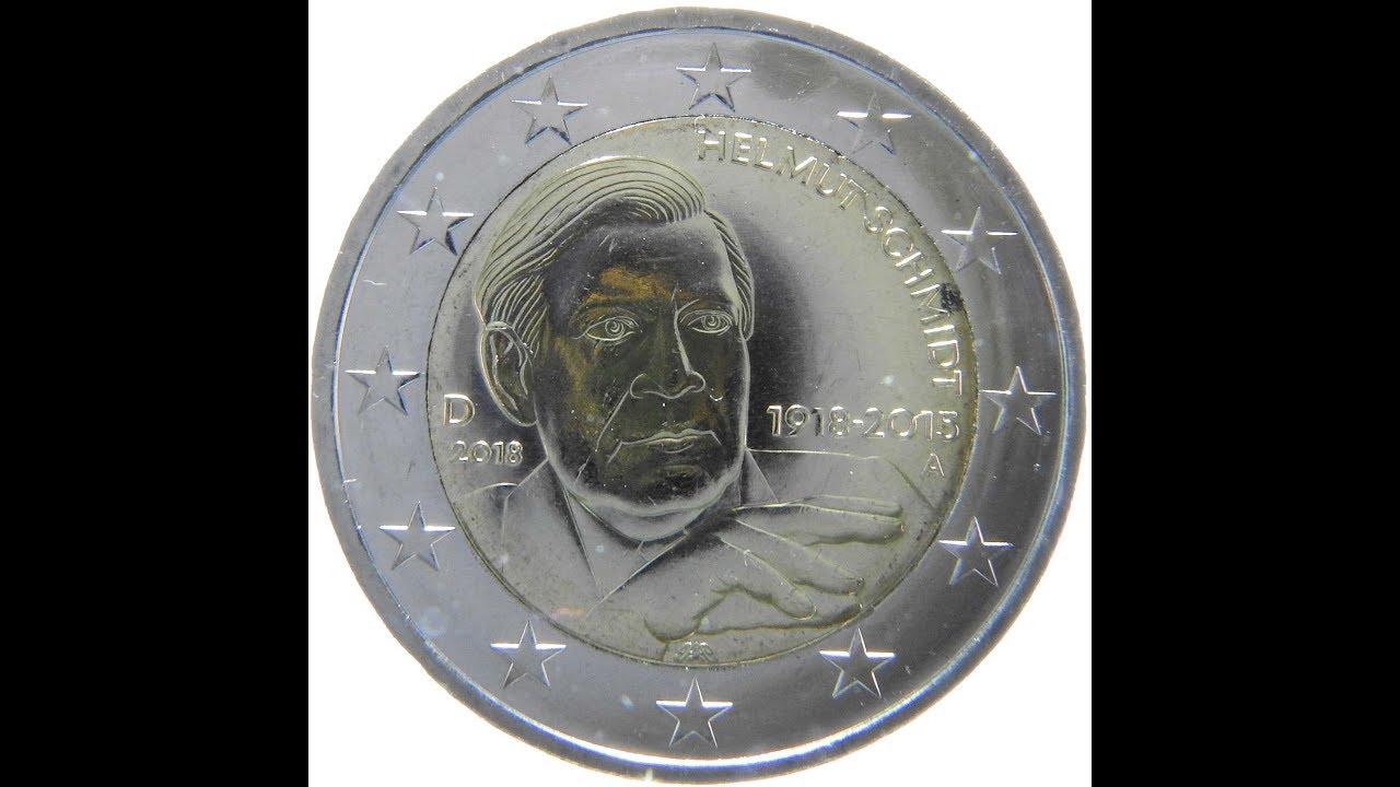 Münzen Sammeln 2 Euro 2018 Helmut Schmidt Youtube