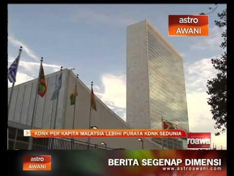 KDNK per kapita Malaysia lebihi purata KDNK sedunia