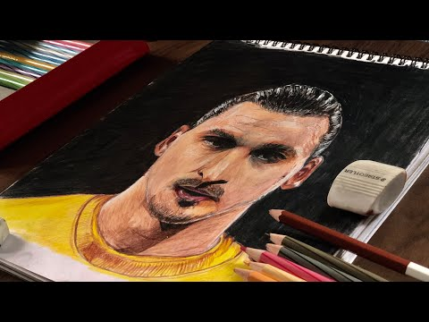 Speed Drawing of Zlatan Ibrahimovic