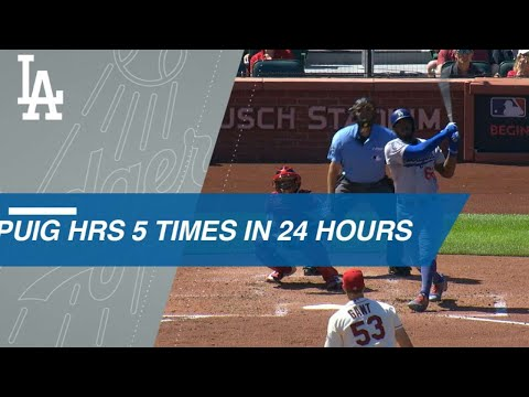 Puig Homers 5 Times over 24 Hours